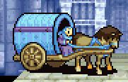Merlinus in his carriage