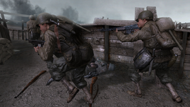 Rangers trench battle CoD2
