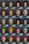 DW7E Hair Color Parts