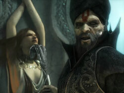 The Vizier about to kill Kaileena