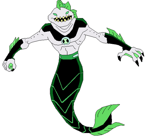 In ben 10 000 rises ripjaws looks like he does in omniverse but with
