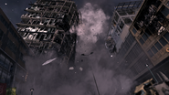 Building collapsing on Metal Team Scorched Earth MW3