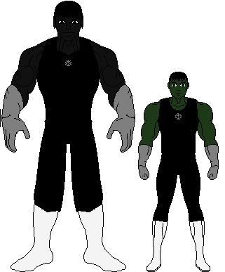 Black hulk and david banner size comparison