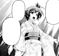 Medaka in her mother&#39;s kimono