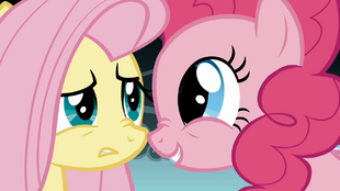 Fluttershy is unconvinced by Pinkie S1E7