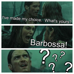 I've made my choice. What's yours? Barbossa! ???? edit