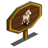 Palomino Quarter Foal Mastery Sign-icon