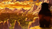 Chin Chinchin watching over Toriko&#39;s group at Mors Mountain
