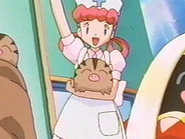 Nurse Joy holding Swinub