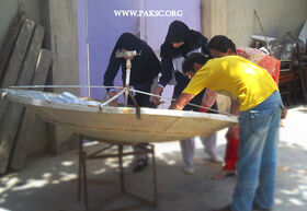 Para bolic solar cooker remaking school students (13)