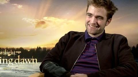 Robert Pattinson talks The Twilight Saga Breaking Dawn Part 2