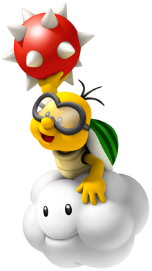 Lakitu Artwork (New Super Mario Bros. Wii)