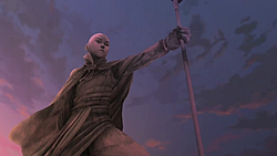 Aang&#39;s statue