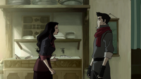 Asami confronting Mako