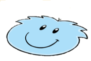 Blue Puffle Large Rug