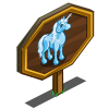 Icy Blue Unicorn Mastery Sign-icon