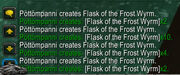 FlaskofFrostWyrm proc 5x in chat log