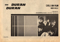 Record mirror music paper advert girls on film song wikipedia duran duran