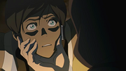 Korra facing Amon