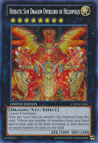 Shining the road to glory, join the Hieratic Dragons! HieraticSunDragonOverlordofHeliopolis-CT09-EN-ScR-LE