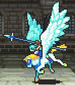 Thite's static battle pose as a Pegasus Knight