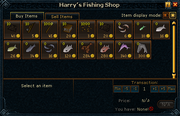Harry&#39;s Fishing Shop stock