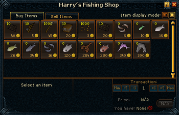 Harry's Fishing Shop stock