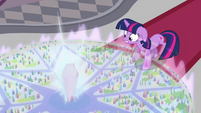 Crystal transforms into Crystal Empire map S3E01