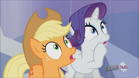Rarity and Applejack shocked S3E2