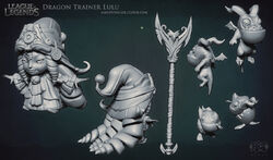 Lulu Dragon Trainer Sculpture