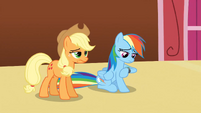 Applejack and Rainbow Dash bored S3E3