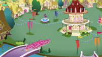 Pinkies swarming Ponyville S3E3