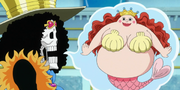 Brook se imagina a Shirahoshi