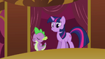 Twilight informing Pinkie clones that they will be taking a test S3E03