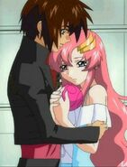 Kira Begs Lacus for Freedom Gundam