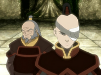 Zuko and Iroh at the Western Air Temple