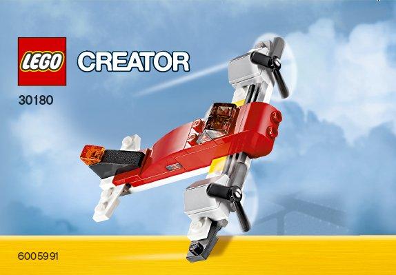 Схемы и инструкции LEGO Creator - Twin Prop (Двухмоторный самолет) - Lego Creator 30180.