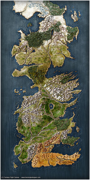 Mapa Poniente by Henning Ludvigsen, Fantasy Flight Games