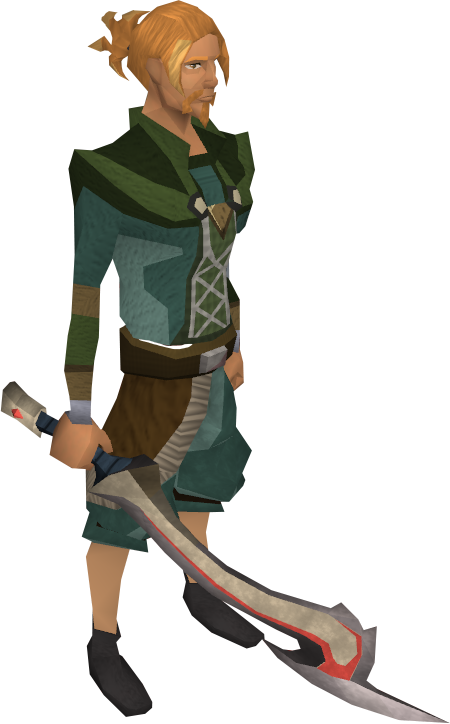 Korasi's sword equipped