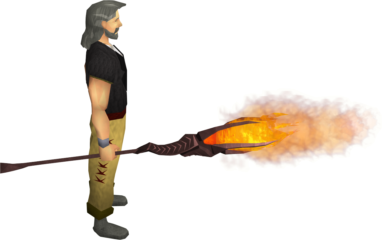 Fire battlestaff equipped