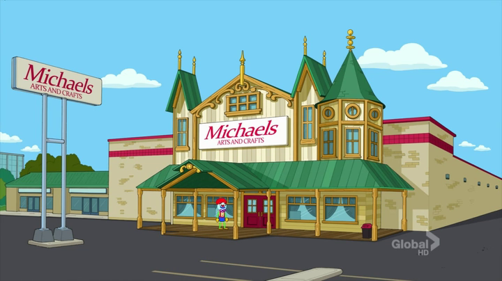 Michaels the cleveland show wiki seth macfarlane 39 s new for Michaels arts and craft hours