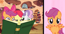 CMC reading a book S3E4