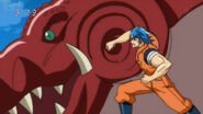 Toriko punching Galala Gator