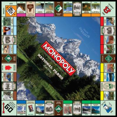 Monopoly National Parks Edition board
