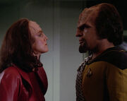 K&#39;Ehleyr and Worf argue