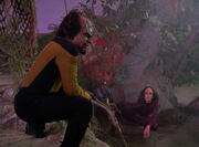 Worf and K&#39;Ehleyr on holodeck