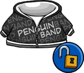 Black Penguin Band Hoodie clothing icon ID 14073