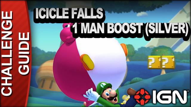 New Super Mario Bros. U Challenge Walkthrough - Icicle Falls
