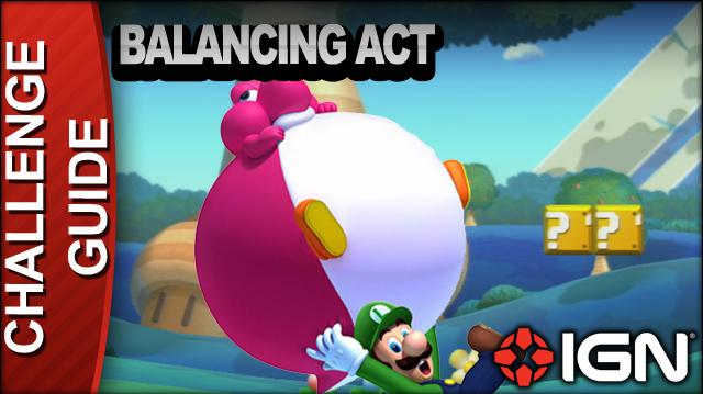 New Super Mario Bros. U Challenge Walkthrough - Balancing Act