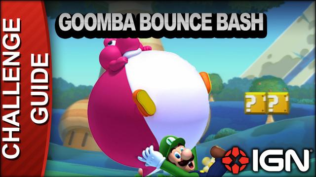 New Super Mario Bros. U Challenge Walkthrough - Goomba Bounce Bash